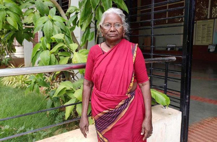 The 'Padma Shri' awardee, who still leads a spartan life, is not keeping well lately due to age-related complications, but her failing health hasn't weakened her resolve to lift more rural women out of poverty. (DH Photo)