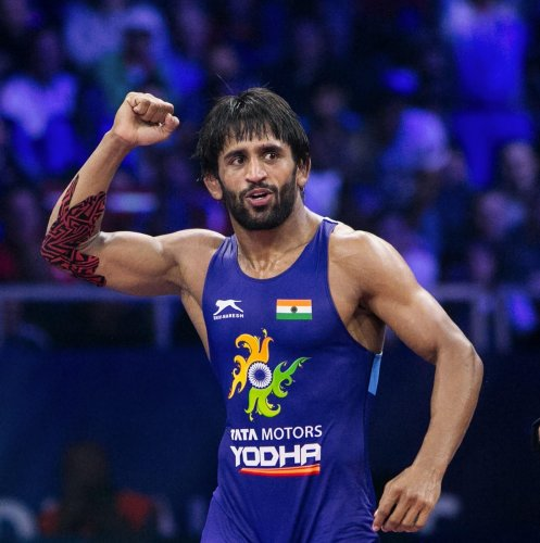 Asian and Commonwealth Games gold medallist wrestler Bajrang Punia. (PTI Photo)