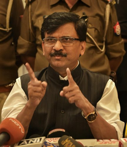 Shiv Sena's Rajya Sabha MP Sanjay Raut. (PTI Photo)