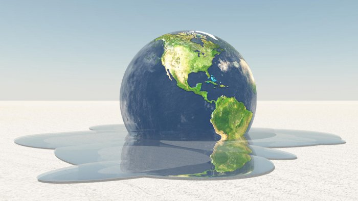 Earth melting into water Image credit NASA. (Image for Representation)