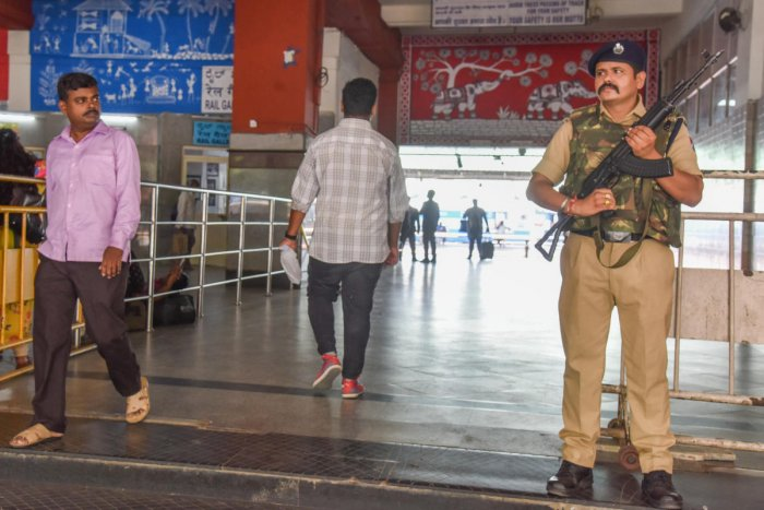 The jurisdictional police officers have been asked to ensure CCTVs are in working condition and also check for suspicious movements and vehicles at sensitive areas. (DH File Photo for Representation)