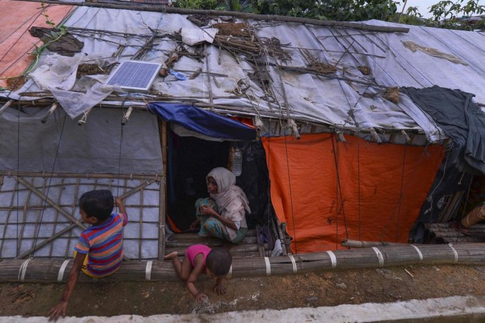 The army operation led to the Rohingya exodus to Bangladesh and accusations that security forces committed mass rapes and killings and burned thousands of homes. (AFP Photo)