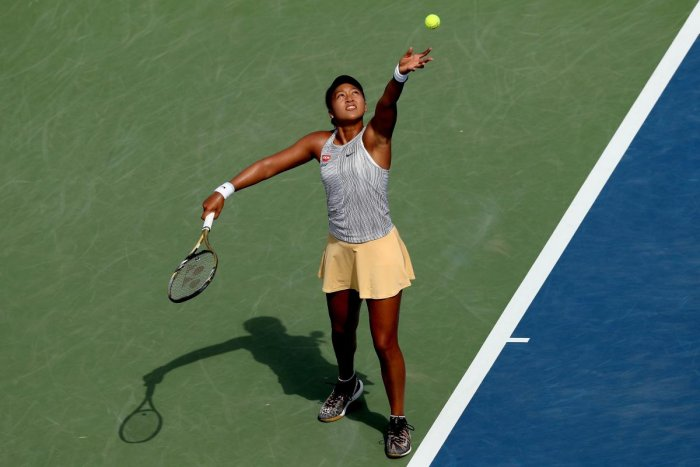 The current number one Naomi Osaka retired with a knee injury. (AFP photo)