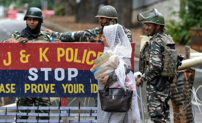 The restrictions under prohibitory orders were eased in Kishtwar, Doda and Ramban districts in the Chenab valley and border districts of Poonch and Rajouri in the Pir Panjal region early in the morning, they said. (AFP Photo)