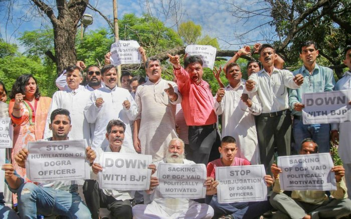 National Panthers Party members protesting. PTI file photo.