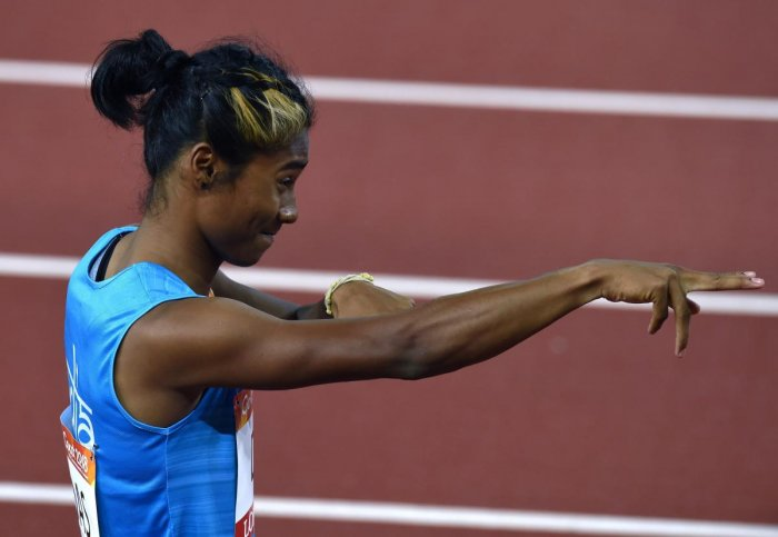 This was Hima's sixth gold in European races since July 2 though the field in most of them has been mediocre (PTI Photo)