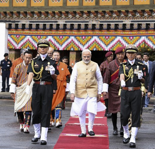 Modi is on his second visit to Bhutan and the first since his re-election in May this year. (PTI file photo)