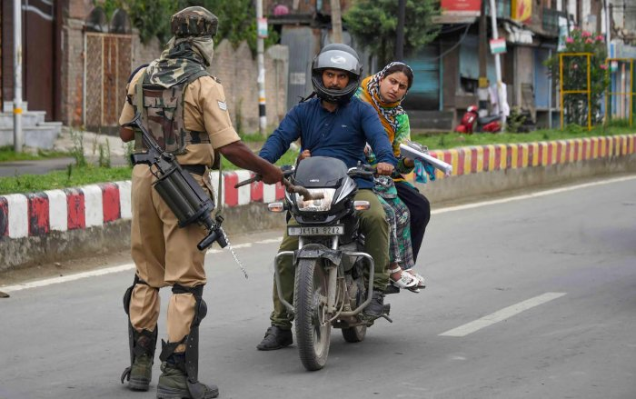 Security forces at some roadblocks have told residents there is a curfew. (PTI file photo)
