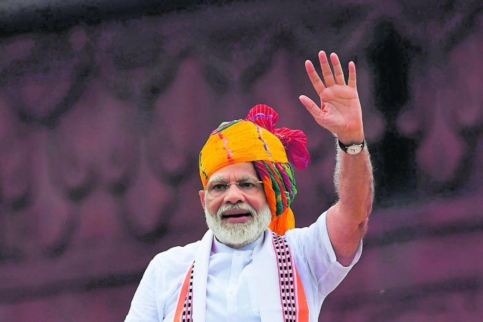 """PM Narendra Modi in his Independence Day speech highlighted the idea of  """"one nation and one constitution"""". (AFP Photo)"""
