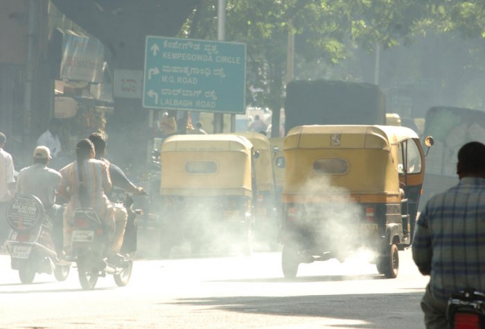Pollution levels are soaring as there are over 80 lakh vehicles in Bengaluru.
