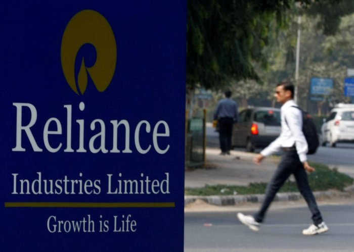 Reliance Industries Limited sign board. (Reuters Photo)