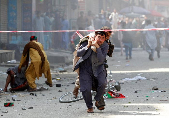 No group claimed responsibility for the 10 bombs but both Islamic State (IS) and the Taliban militants operate in the area. (Reuters photo)