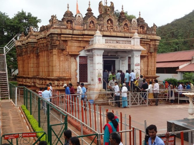 The ancient Kumaraswamy Temple at Swami Malai forest in Sandur, Ballari district. DH File Photo