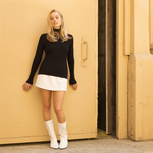 Margot Robbie as Sharon Tate in 'Once upon a time in Hollywood'.