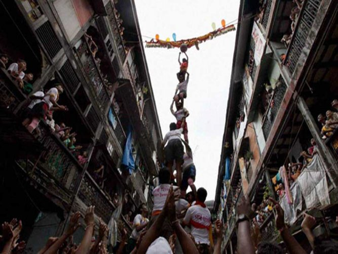 The Janamashtami-Dahi Handi celebrations are set for this weekend but several big organisers have preferred to cancel it or have low-scale events, in the wake of the megafloods in Western Maharashtra and Konkan belt. PTI file photo