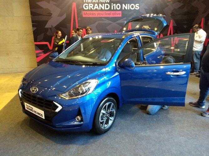 Korean auto giant Hyundai launched the third generation Grand i10 NIOS. (DH Photo)