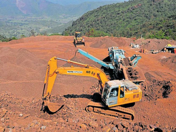 In what could be a shocking development for the steel sector in Karnataka, the state government has cancelled the extension of mining lease period of public sector NMDC Ltd. DH file photo for representation