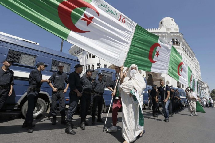 """The progress already made is """"irreversible"""", said Said Salhi, vice president of the Algerian League for the Defence of Human Rights and a prominent figure in the protest movement. (AP/PTI Photo)"""