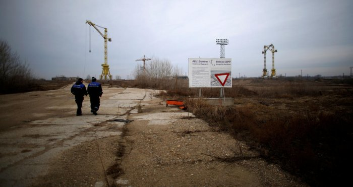 Workers walk near the construction site of Bulgaria's second nuclear power plant in Belene, Bulgaria. (Reuters Photo)