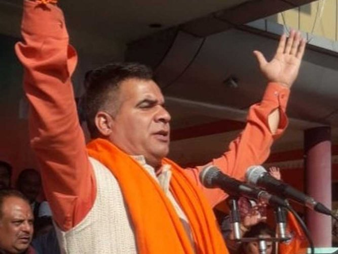 Jammu and Kashmir BJP chief Ravinder Raina. (Image courtesy Twitter)