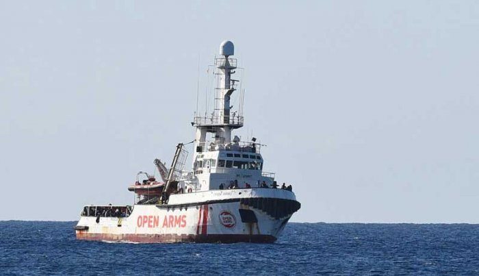 The boat had spent six days anchored off Lampedusa before a local prosecutor on Tuesday ordered their disembarkment amid a probe of far-right Interior Minister Matteo Salvini for forbidding their entry to the port.(Reuters Photo)