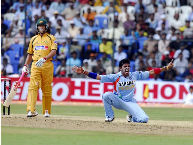 Sreesanth made headlines more for his antics than his bowling (DH File Photo)