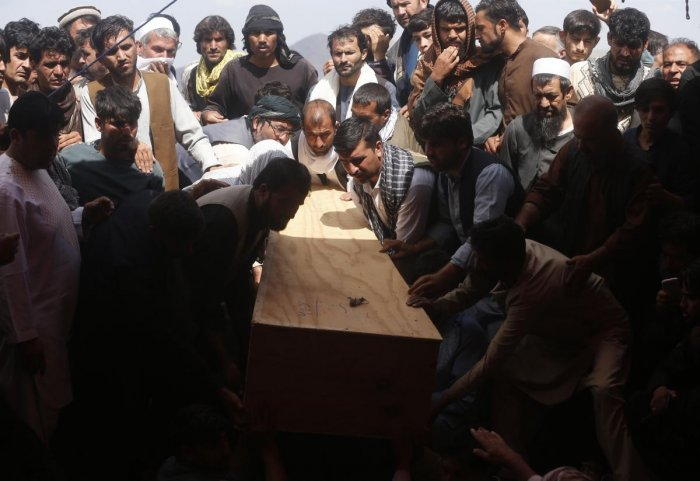 A suicide bomber targeted a packed Afghan wedding hall in west Kabul Saturday as celebrations were in full swing. (AP/PTI Photo)
