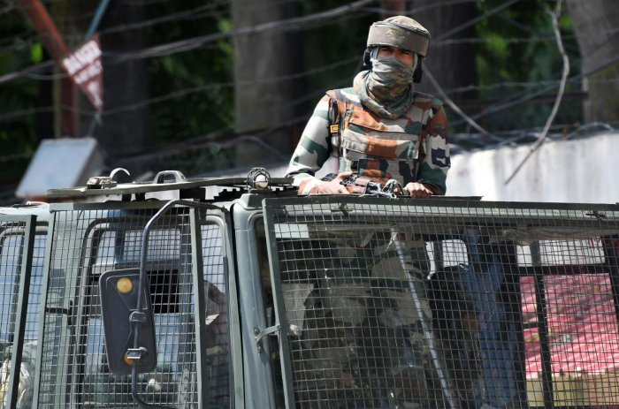 In the exchange of fire, two policemen -- identified as SPO Billal Ahmad and SI Amardeep Parihar-- sustained injuries,the spokesmansaid. SPO Billal succumbed to his injuries. Photo/AFP