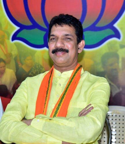 New state BJP President Nalin Kumar Kateel. pic by Govindraj Javli.