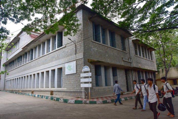 Sri Jayachamarajendra (Govt) Polytechnic was founded in 1943. DH PHOTO/IRSHAD MAHAMMAD