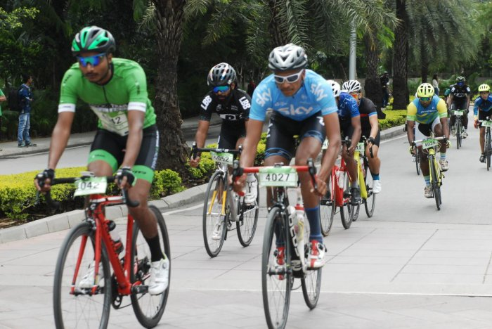 Bengalureans pedalling at an earlier edition of the event.