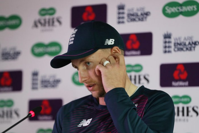 England's Joe Root during the press conference ahead of the third Ashes test against Australia. (Reuters Photo)