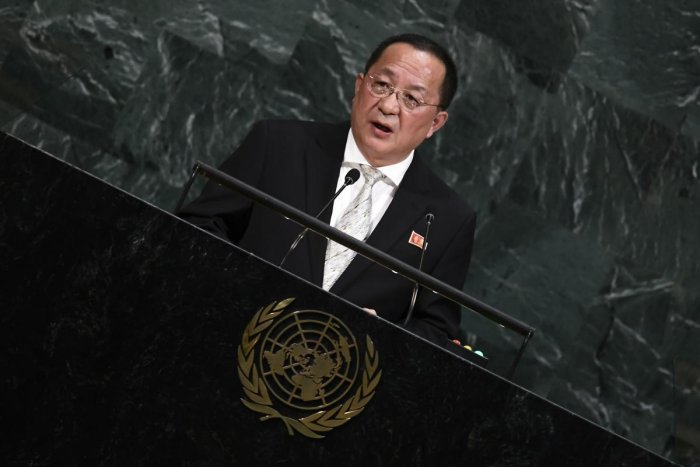 North Korea's Foreign Minister Ri Yong Ho. (AFP Photo)