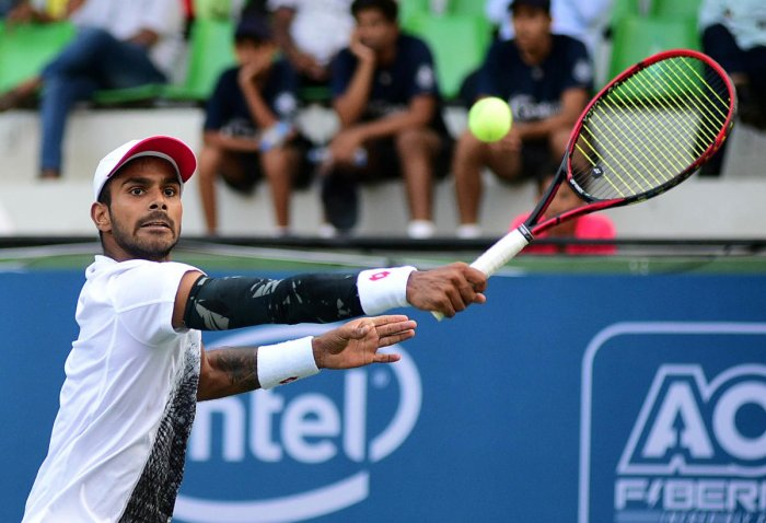 India's Sumit Nagal moved one step closer to his first-ever Grand slam appearance. (DH Photo)