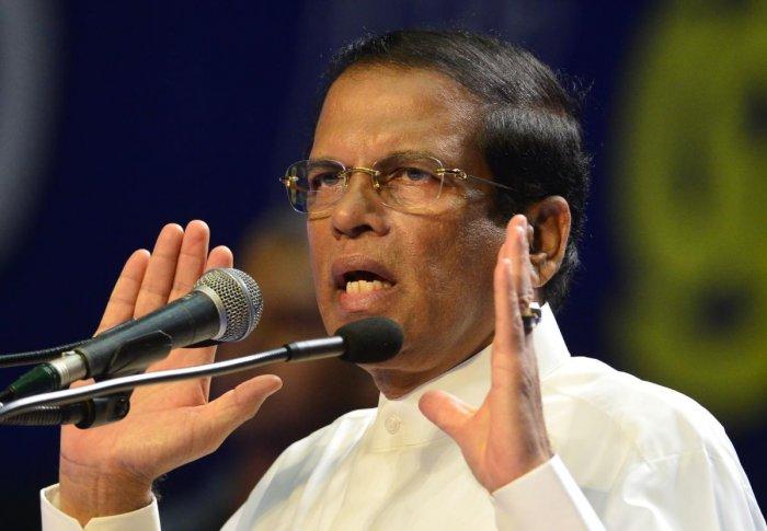 Sri Lanka's President Maithripala Sirisena. (AFP Photo)