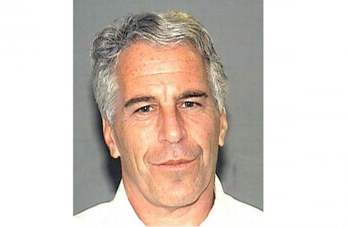 Epstein was sentenced in Florida after pleading guilty in 2008 to state charges of solicitation of prostitution from a minor. Photo by HO / Palm Beach County Sheriff's Department / AFP
