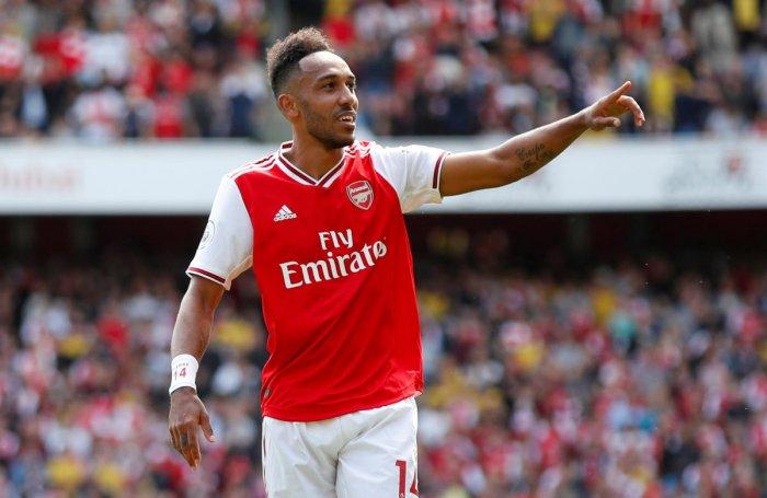 Arsenal's Pierre-Emerick Aubameyang. (Reuters Photo)