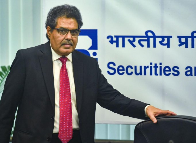 Mumbai: Ajay Tyagi, chairman of Securities and Exchange Board of India (SEBI) during a press conference in Mumbai. (PTI Photo)