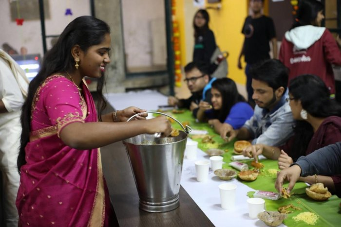 An Ethnic Meal Day at IIMB.