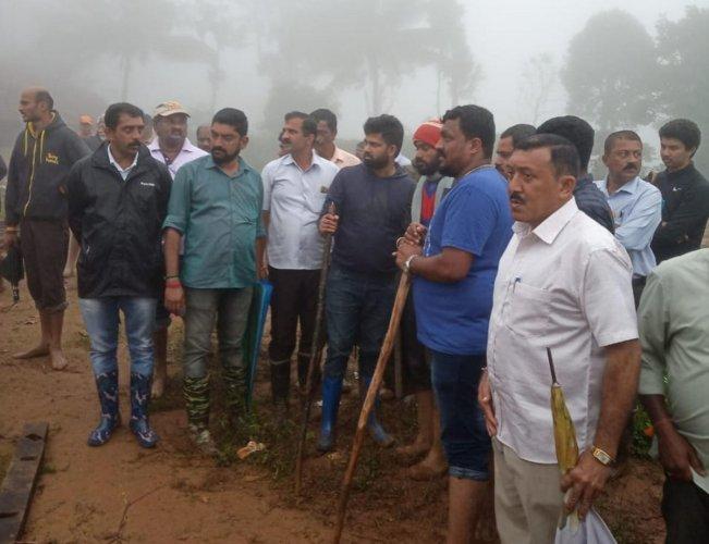 MP Pratap Simha visited Thora village on Friday.