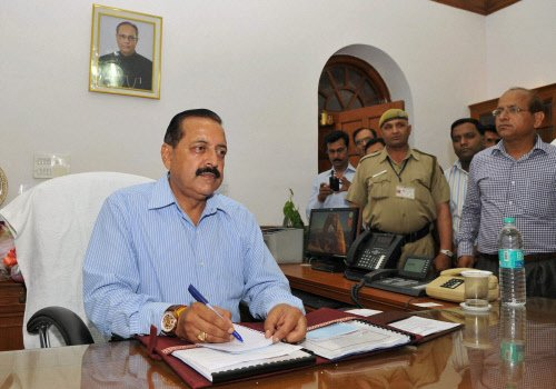 Process for repealing Article 370 on: Minister