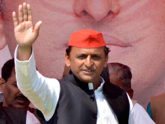 Akhilesh had a meeting with former UP minister Om Prakash Rajbhar, the president of the Suheldev Bhartiya Samaj Party (SBSP), on Friday. (PTI File Photo)