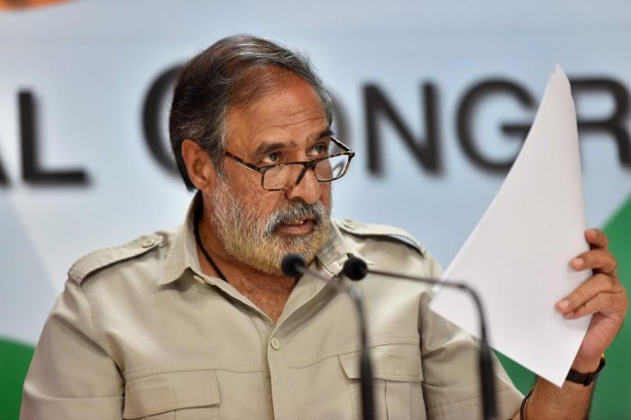 Senior Congress leader Anand Sharma hit out at the Modi government for claiming that the Indian economy was the fastest growing in the world. PTI file photo
