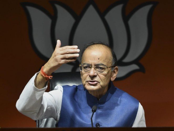 Former finance Minister and BJP leader Arun Jaitley. PTI file photo