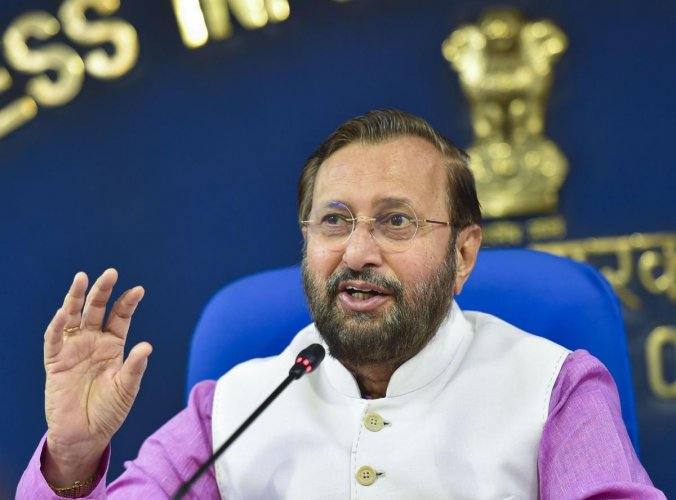 Union Environment and Forest Minister Prakash Javadekar. File photo