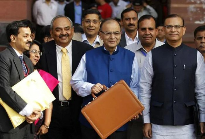 Former Finance Minister Arun Jaitley on February 28, 2015, presented his maiden full-year Budget for the 2015-16 financial year in the Lok Sabha. (Photo by AP)