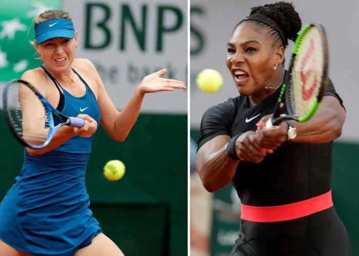 Serena Williams and Maria Sharapova (AFP Photo)