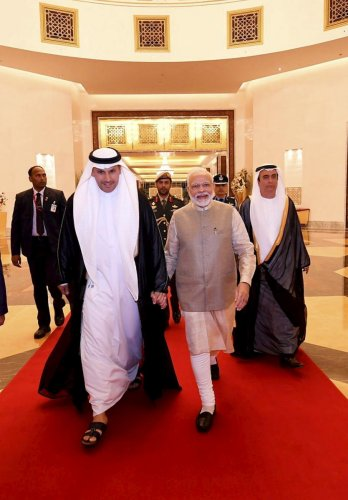 """Modi in an interview with the UAE's official news agency, WAM, said that India has found a """"valuable partner"""" in the UAE to achieve its ambitious dream of becoming a USD 5 trillion economy. (PTI Photo)"""