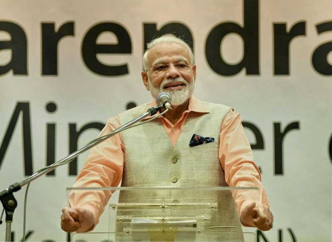 """We have to keep ourselves fit and the nation has to be made fit. It will be a very interesting campaign for everyone—children, young, elderly and women—and it will be your own movement. But today, I am not going to reveal its specifics. You must wait for August 29,"" Modi said during his 'Mann ki Baat' monthly radio address on Sunday. (PTI File Photo)"