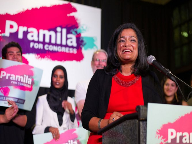 The Indian-American lawmaker in the US House of Representatives, Pramila Jayapal. (Image courtesy Twitter)